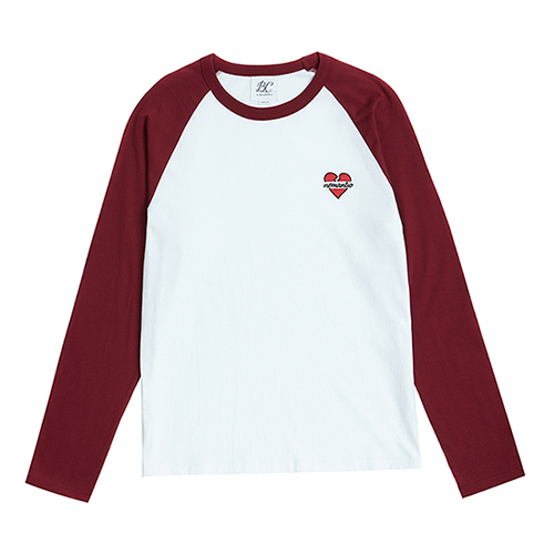 NOMANTIC LOGO RAGLAN T-SHIRTS BURGUNDY