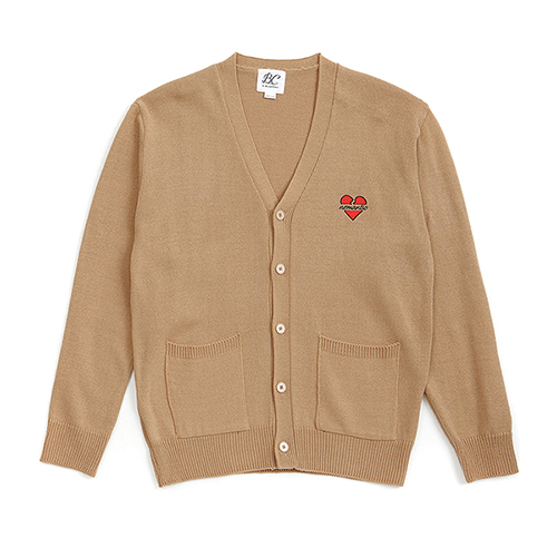 NOMANTIC LOGO KNIT CARDIGAN BEIGE