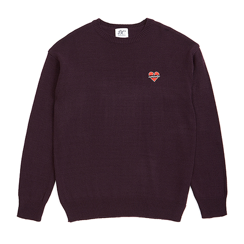 NOMANTIC LOGO BASIC KNIT PURPLE