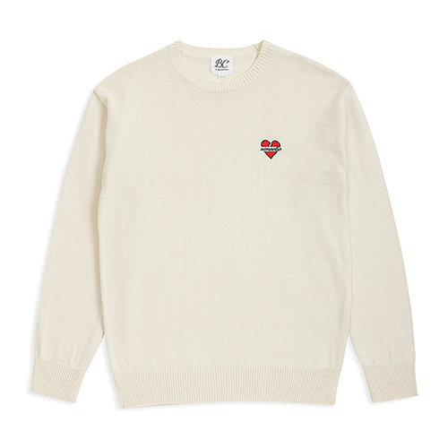 NOMANTIC LOGO BASIC KNIT IVORY