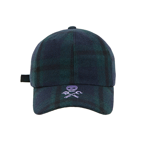 [COLLECTION LINE]BEAUTIFUL LOGO CHECK CAP GREEN