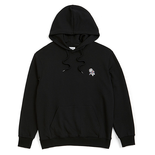 [RE-EDITION]APOLLO DOG LOGO HOOD T-SHIRTS BLACK