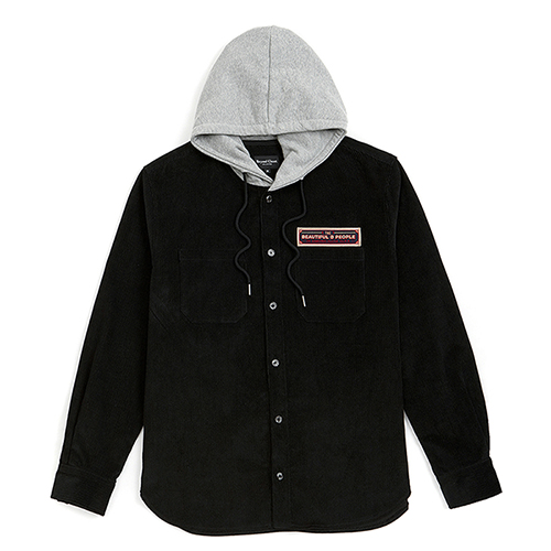 [COLLECTION LINE]WAPPEN HOOD SHIRTS BLACK