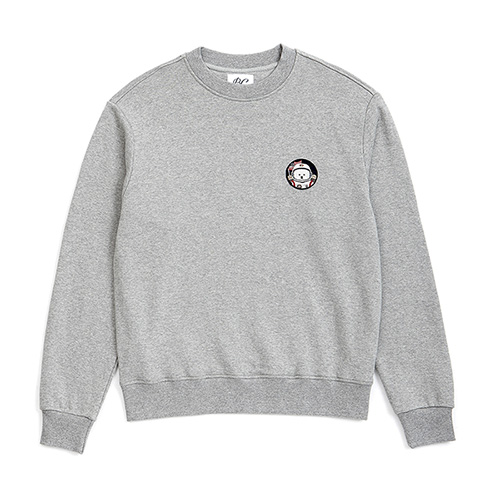 [RE-EDITION]APOLLO DOG WAPPEN SWEAT-SHIRTS GRAY