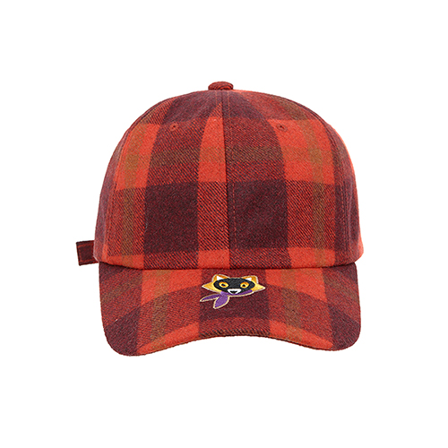 [COLLECTION LINE]BEAUTIFUL LOGO CHECK CAP RED