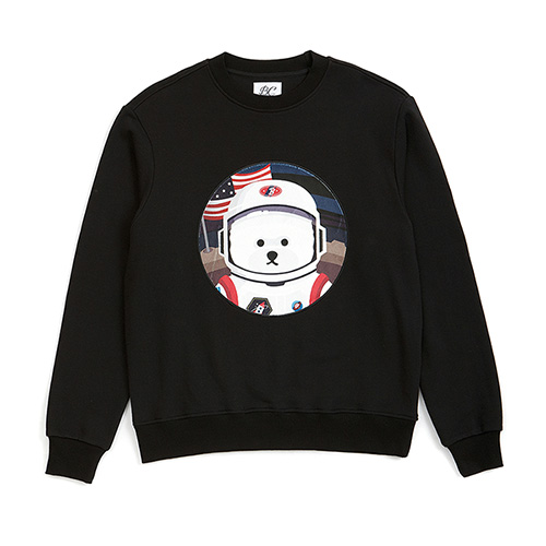 [RE-EDITION]APOLLO DOG PATCH SWEAT-SHIRTS BLACK