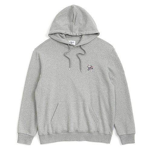 [RE-EDITION]APOLLO DOG LOGO HOOD T-SHIRTS GRAY