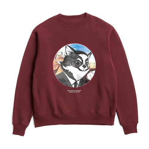 ILP DALI-ARCHIVE DOG PATCH SWEAT-SHIRTS BURGUNDY