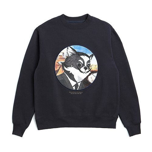 ILP DALI-ARCHIVE DOG PATCH SWEAT-SHIRTS NAVY