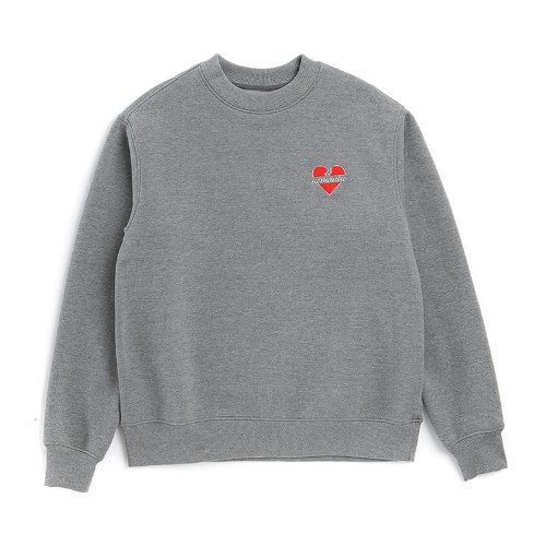 [기모]NOMANTIC W-LOGO SWEAT-SHIRTS GRAY