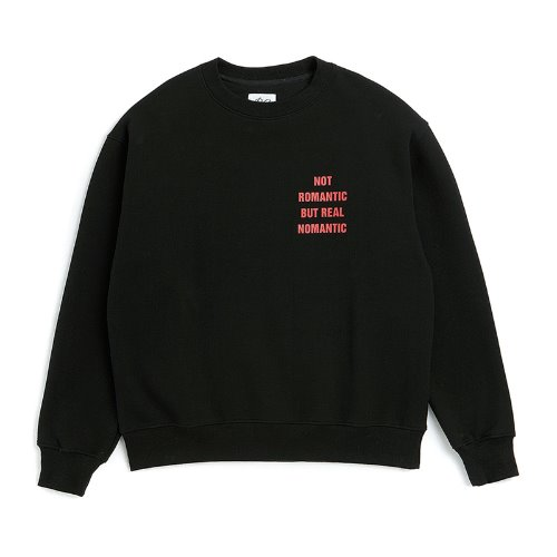 [기모]NOMANTIC ELBOW LOGO SWEAT-SHIRTS BLACK
