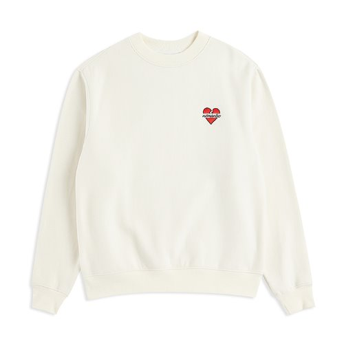 [기모]NOMANTIC W-LOGO SWEAT-SHIRTS IVORY