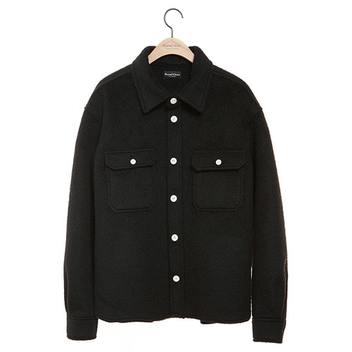 [COLLECTION LINE]ANGOLA HEAVY WEIGHT SHIRTS BLACK