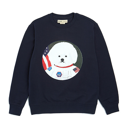 APOLLO DOG PATCH SWEAT SHIRT NAVY