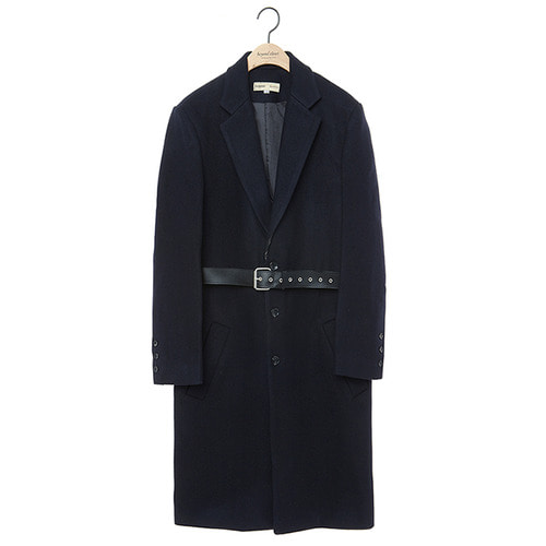 [COLLECTION LINE]BC LEATHER SINGLE COAT NAVY