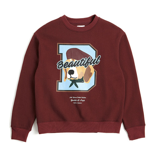 [COLLECTION LINE][기모]BEAUTIFUL LOGO SWEAT-SHIRTS 2018WINTER BURGUNDY