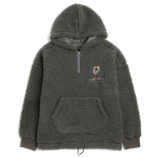 [COLLECTION LINE]F-FUR MOVIE ARCHIVE HALF ZIP-UP GRAY