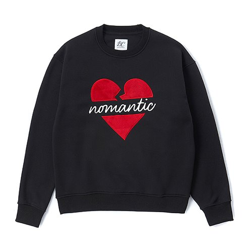 [CHRISTMAS EDITION]NOMANTIC W-PATCH SWEAT-SHIRTS BLACK