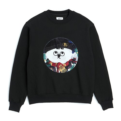 [CHRISTMAS EDITION]W-MOVIE H.P DOG PATCH SWEAT-SHIRTS BLACK