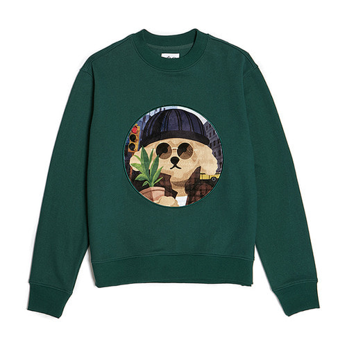 MOVIE MAN DOG PATCH SWEAT-SHIRTS 2019VER GREEN
