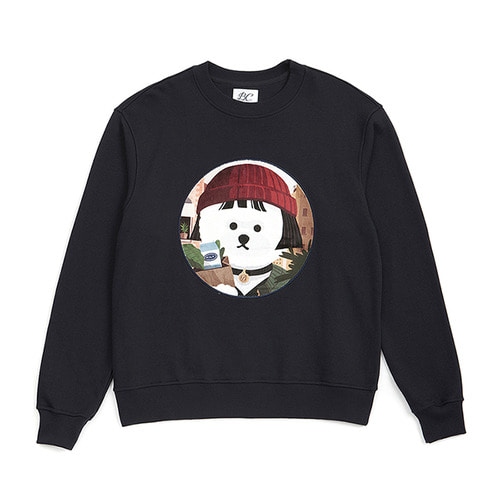 MOVIE WOMEN DOG PATCH SWEAT-SHIRTS 2019VER NAVY