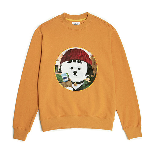 [3/5출고] MOVIE WOMEN DOG PATCH SWEAT-SHIRTS 2019VER MUSTARD