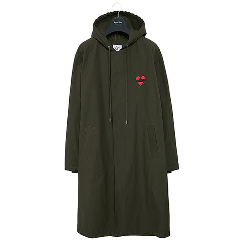 NOMANTIC HOOD SINGLE COAT KHAKI