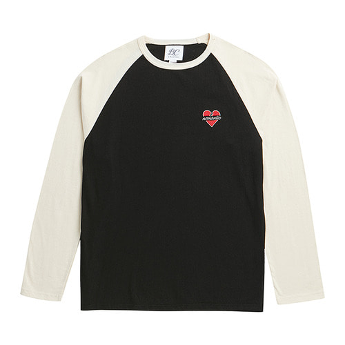 NOMANTIC RAGLAN LOGO T-SHIRTS WHITE