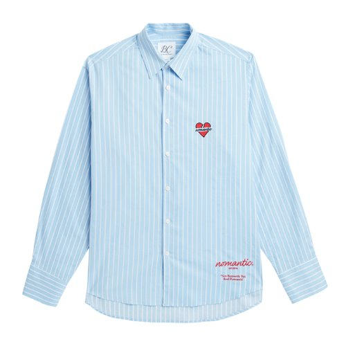 NOMANTIC OVERSIZE LOGO SHIRTS BLUE