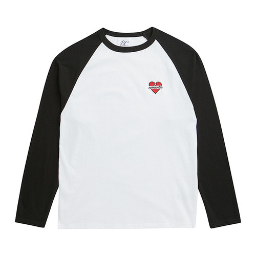 NOMANTIC RAGLAN LOGO T-SHIRTS BLACK
