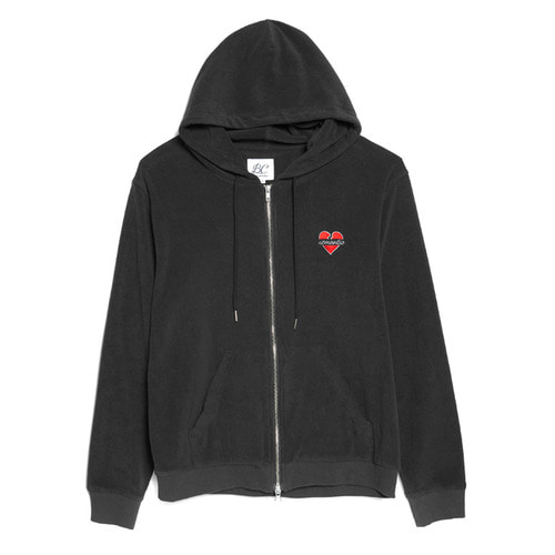 NOMANTIC TOWEL ZIP-UP HOOD BLACK