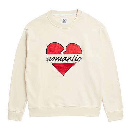 NOMANTIC BIG-LOGO SWEAT-SHIRTS CREAM 2019VER