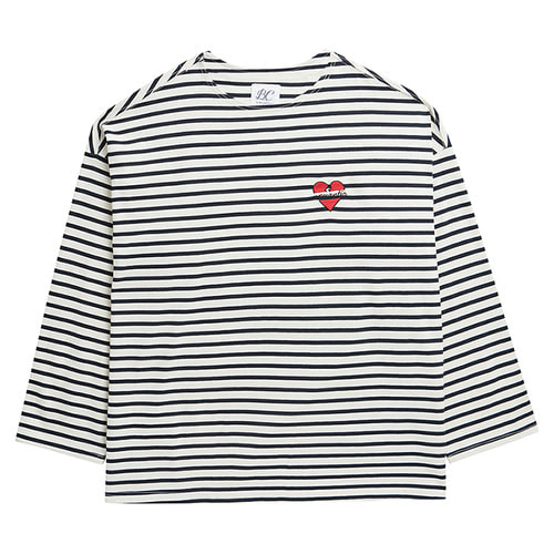 NOMANTIC OVERSIZE STRIPE T-SHIRTS IVORY