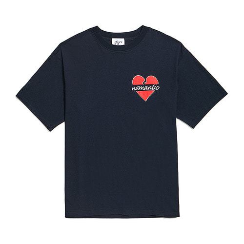 NOMANTIC MIDDLE LOGO 1/2 T-SHIRTS NAVY