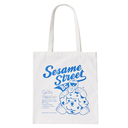 [B.C X S.S]HELLO COOKIE MONSTER ECO BAG BLUE