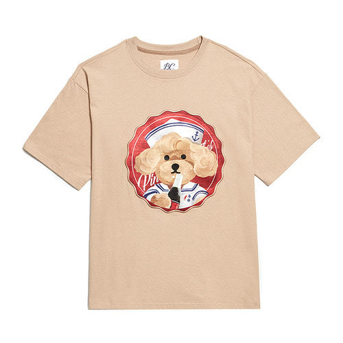 PINUP COKE DOG PATCH 1/2 T-SHIRTS BEIGE