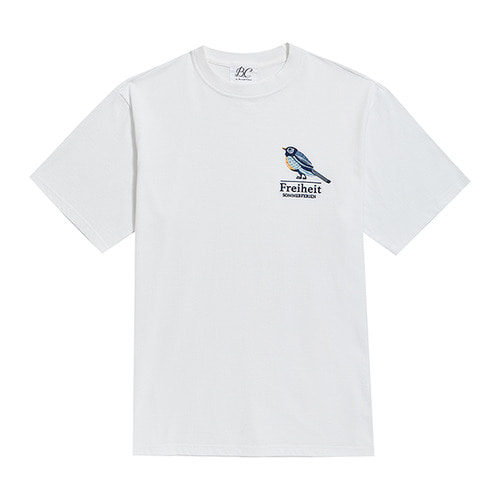 [COLLECTION LINE]SUMMER BIRD 1/2 T-SHIRTS WHITE