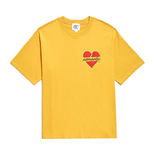 NOMANTIC MIDDLE LOGO 1/2 T-SHIRTS YELLOW