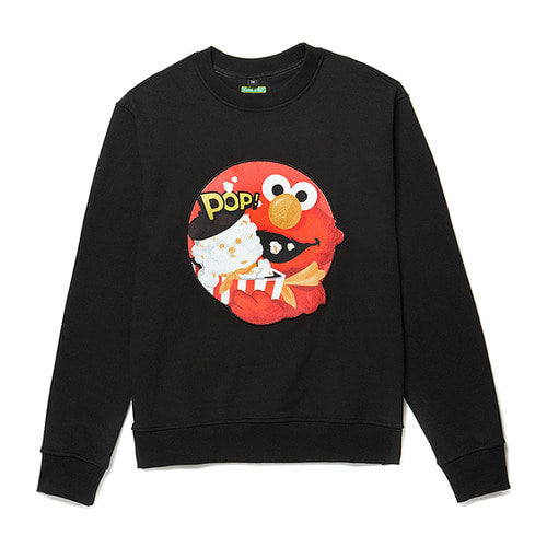 [B.C X S.S]ELMO SIGNATURE PATCH SWEAT-SHIRTS BLACK