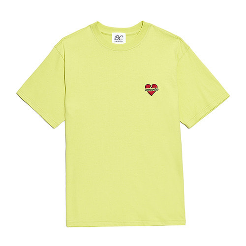 [5/28출고]NOMANTIC SIGNATURE LOGO 1/2 T-SHIRTS LIME