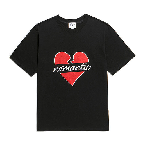 NOMANTIC BIG-SIGNATURE LOGO 1/2 T-SHIRTS BLACK