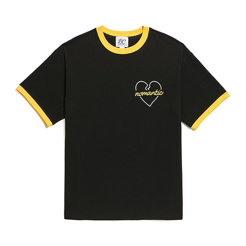 [6/3출고]NOMANTIC COLOR BLOCK ROPE 1/2 T-SHIRTS BLACK