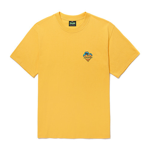 [B.C X S.S]COOKIE MONSTER HEART LOGO 1/2 T-SHIRTS YELLOW