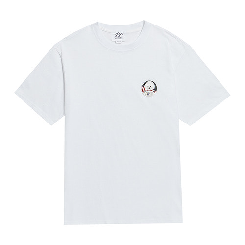 [L사이즈추가]APOLLO DOG WAPPEN 1/2 T-SHIRTS 2019VER  WHITE