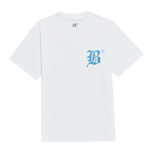 BC NEW LETTERING 1/2 T-SHIRTS WHITE