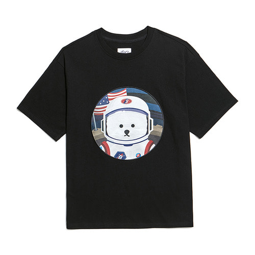 [RE-EDITION]APOLLO DOG PATCH 1/2 T-SHIRTS BLACK