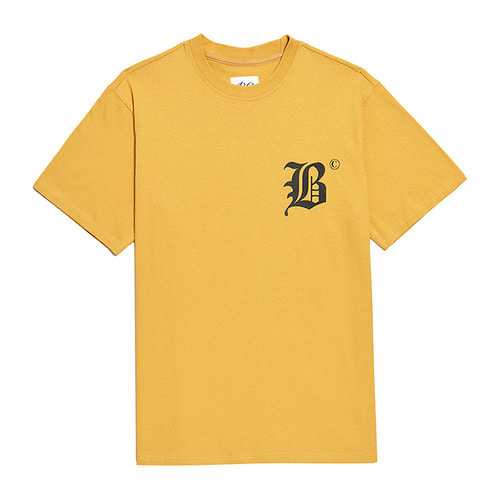 BC NEW LETTERING 1/2 T-SHIRTS YELLOW