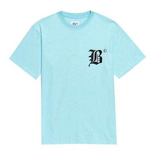 BC NEW LETTERING 1/2 T-SHIRTS SKY BLUE