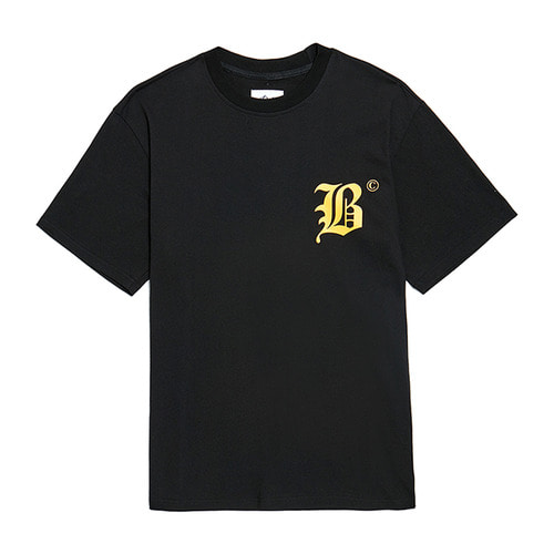BC NEW LETTERING 1/2 T-SHIRTS BLACK