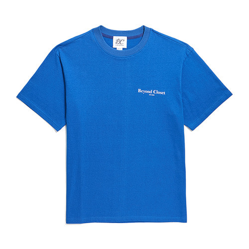 NEW EDITION LOGO 1/2 T-SHIRTS BLUE